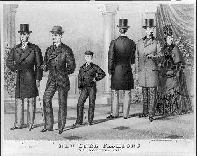 The first suit. Holyday gift from Baldwin the Clothier, to the patrons of the Boys Department, cor. Broadway & Canal St. N.Y.