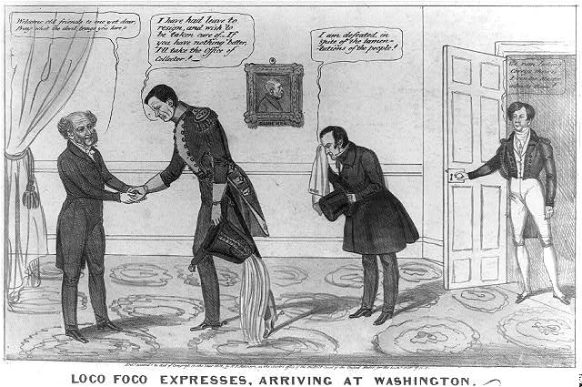 Loco Foco expresses, arriving at Washington