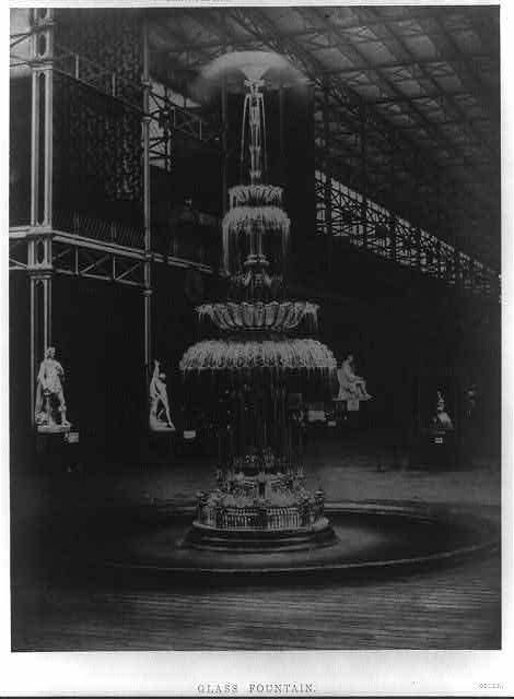 Glass fountain