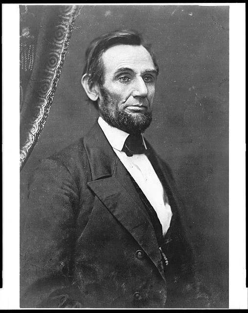 [Abraham Lincoln, first portrait with a full beard]