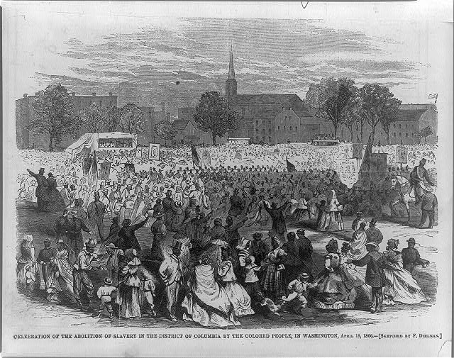 Celebration of the abolition of slavery in the District of Columbia by the colored people, in Washington, April 19, 1866