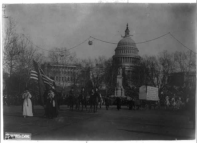 Woman suffrage parade, Wash., D.C.