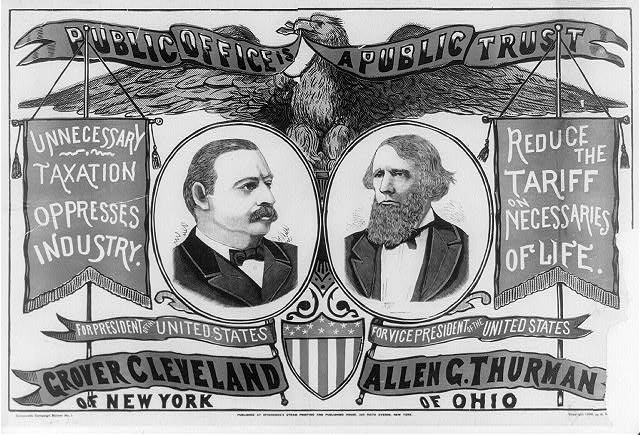 Public office is a public trust For President of the United States, Grover Cleveland of New York ; For Vice-President of the United States, Allen G. Thurman of Ohio.