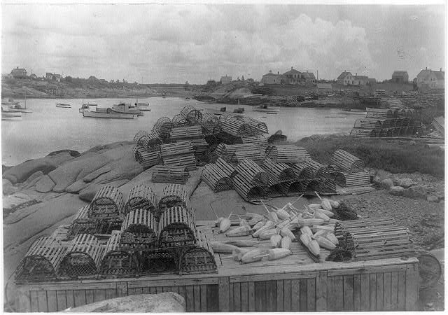 Lobster fishing industry near Grindstone Inn, Winter Harbor, Maine