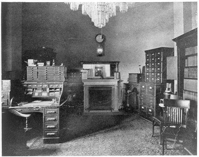 Interior of U.S. Marshal's office, 1865