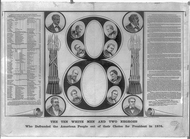 Ten white men and two Negroes who defrauded the American people out of their choice for president in 1876