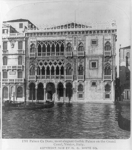 Palace Ca Doro, most elegant Gothic Palace on the Grand Canal, Venice, Italy