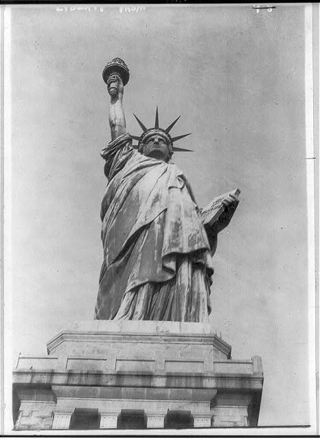 New York City. Bedloe's Island. Statue of Lib.: front view from base