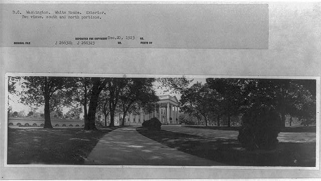 [North portico of the White House as seen from the east]