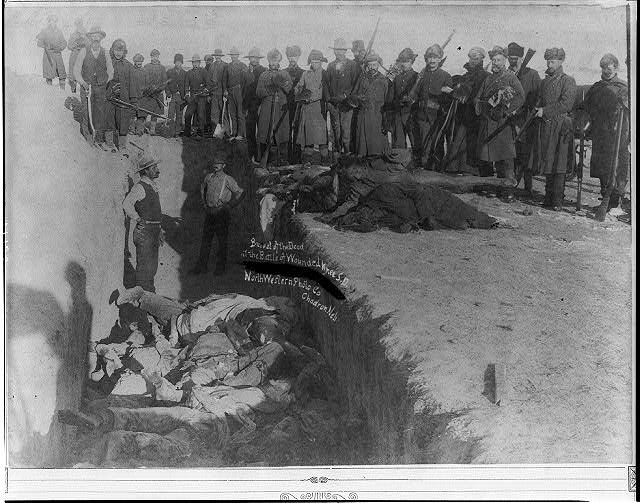 Burial of the dead at the battle of Wounded Knee, S.D.