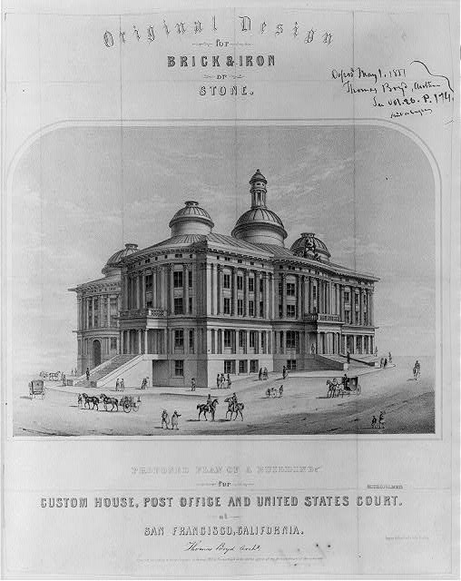 Proposed plan of a building for Custom House, Post Office and United States Court at San Francisco, California