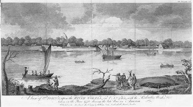 A view of St. John's, upon the River Sorell, in Canada, with the redoubts, works, &c. taken in the year 1776, during the late war in America