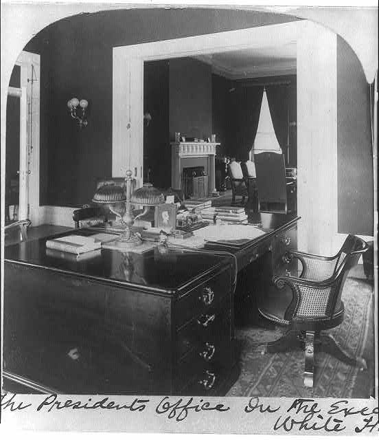 The President's office in the Executive Office Annex to the White House, Wash., D.C.