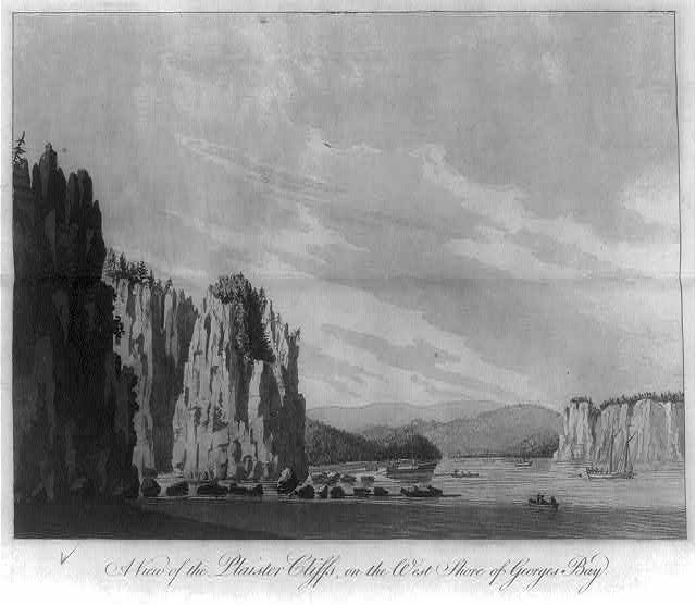 A view of the Plaister Cliffs, on the west shore of Georges Bay