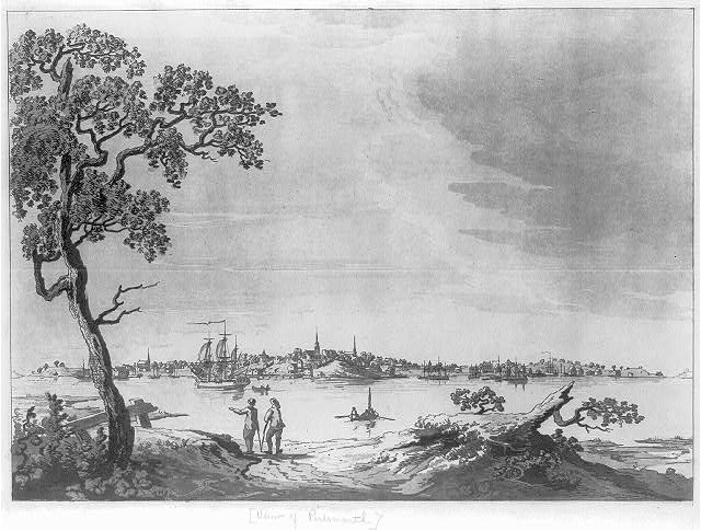 [View of Portsmouth, New Hampshire from across the Piscataqua River]