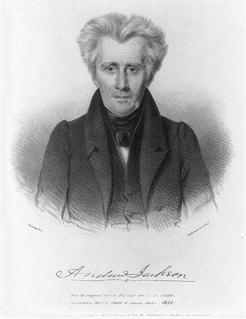 Andrew Jackson from the original picture painted for C.G. Childs