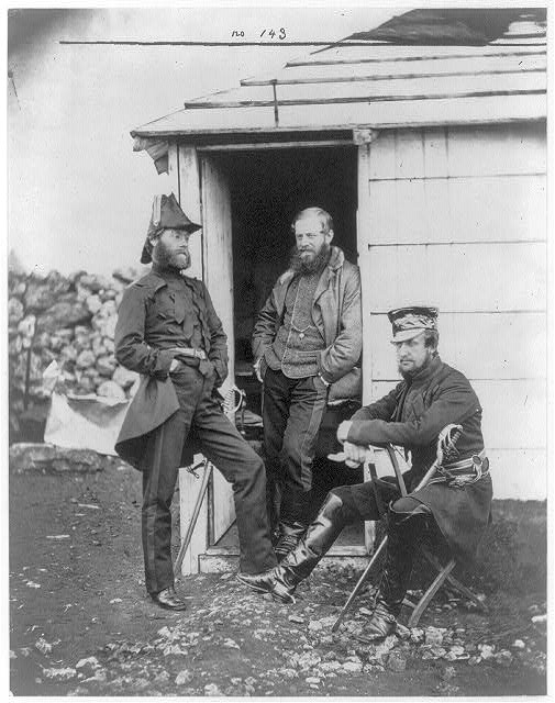 Captain Ponsonby, Captain Pearson & Captain Markham, on the staff of Sir George Brown