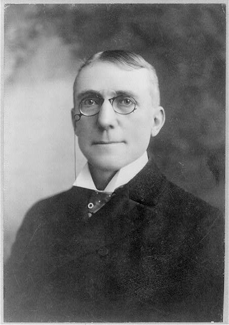 [James Whitcomb Riley, bust portrait, facing left]
