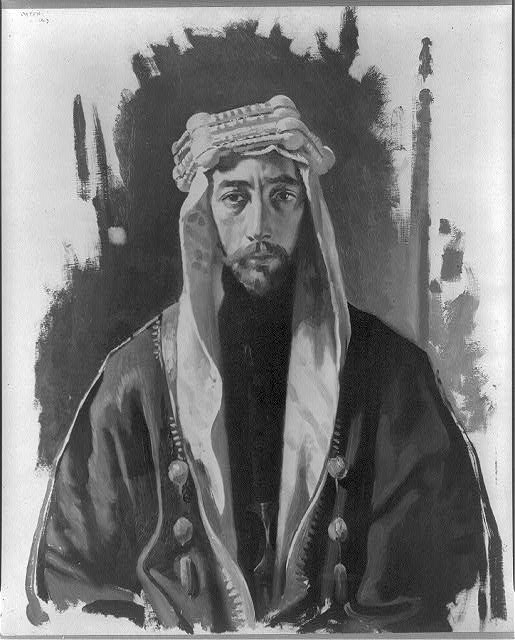 [Faisal I, King of Iraq, 1885-1933, head-and-shoulders portrait, facing front]