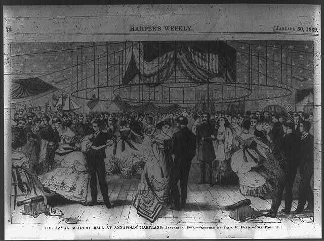 The Naval Academy Ball at Annapolis, Maryland, January 8, 1869