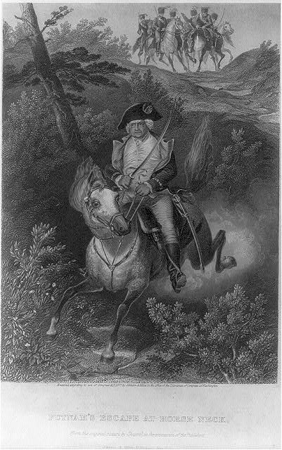[Israel Putnam, 1718-1790: Putnam's escape at Horse Neck]