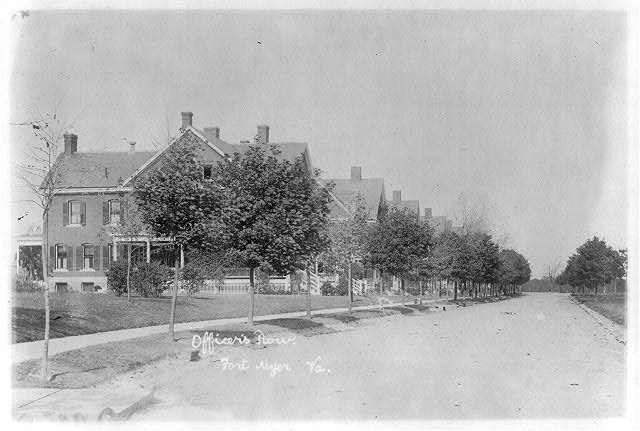 [Officers row, Fort Myer, Virginia]