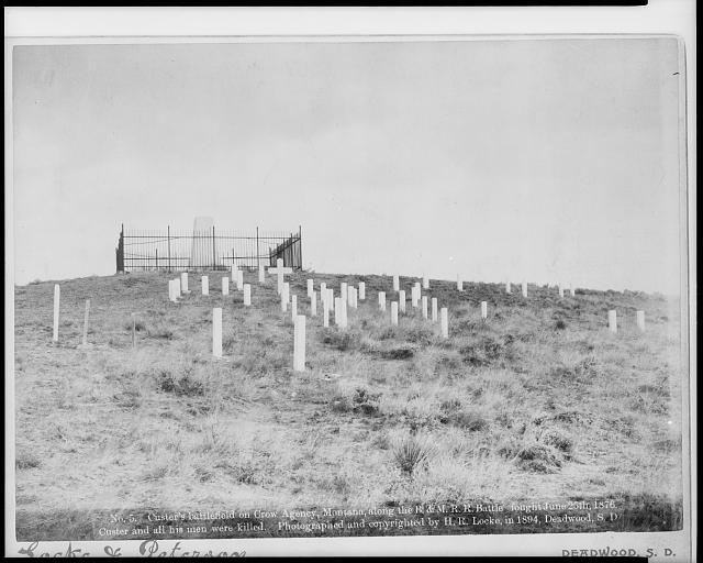 [Graveyard and memorial on Custer's battlefield on Crow Agency, Montana]