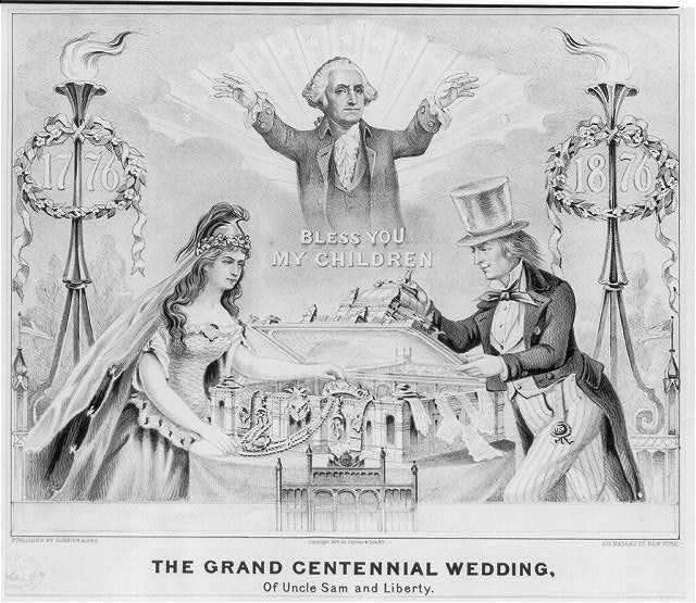 Grand centennial wedding: of Uncle Sam and Liberty
