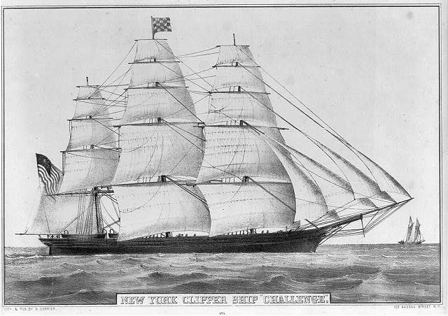 "New York clipper ship ""Challenge"""