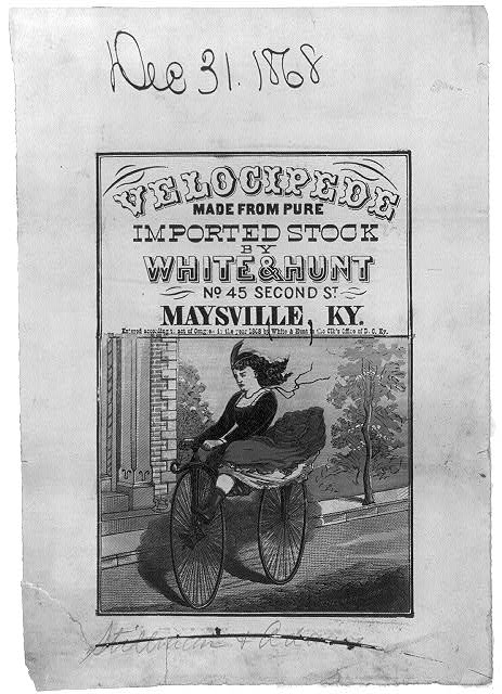 Velocipede - made from pure imported stock by White & Hunt