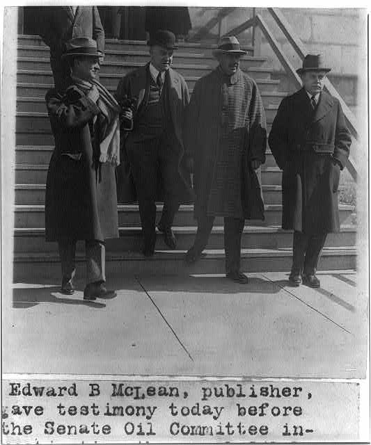 Edward B. McLean with his attorneys Wilton J. Lambert, John Major and William E. Leahy