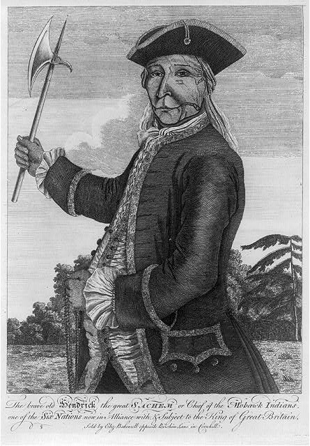 The brave old Hendrick the great sachem or chief of the Mohawk Indians, ...