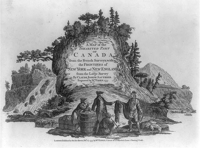 A map of the inhabited part of Canada ... with the frontiers of New York and New England ... by Claude Joseph Sauthier