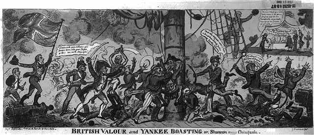 British valour and Yankee boasting or, Shannon versus Chesapeake