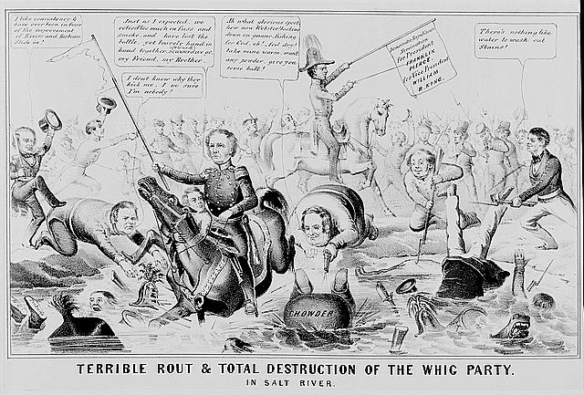 Terrible rout & total destruction of the Whig Party. In Salt River