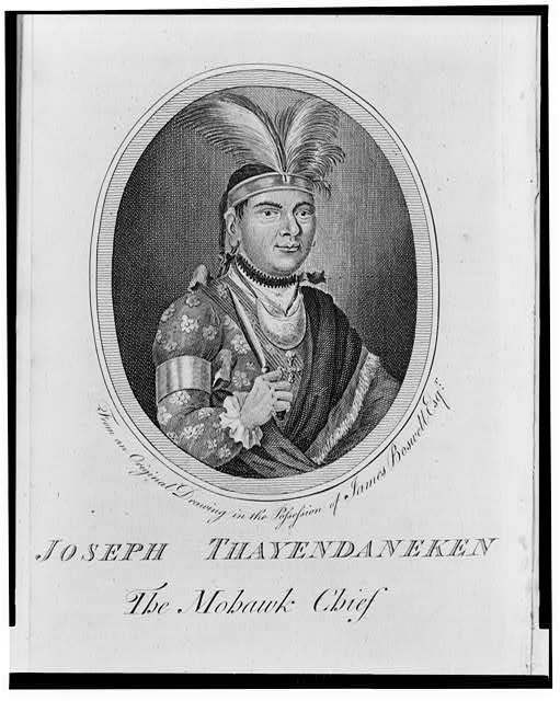 Joseph Thayendaneken the Mohawk chief
