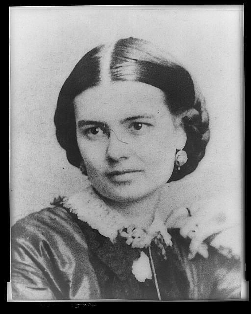 [Mrs. Chester Arthur, half-length portrait, facing left]