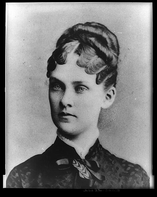 [Mrs. Theodore Roosevelt, three-quarter length portrait, standing, facing slightly left]