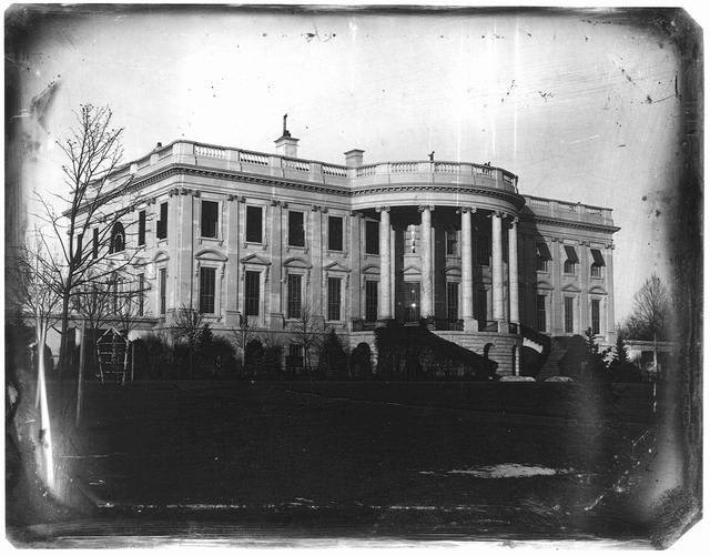 [President's house (i.e. White House), Washington, D.C., showing south side, probably taken in winter]