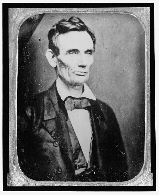 [Abraham Lincoln, half-length portrait, facing right]