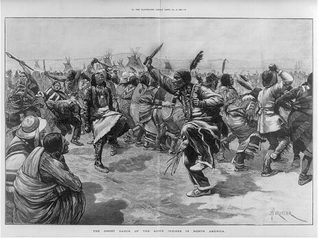 Ghost Dance of the Sioux Indians in North America