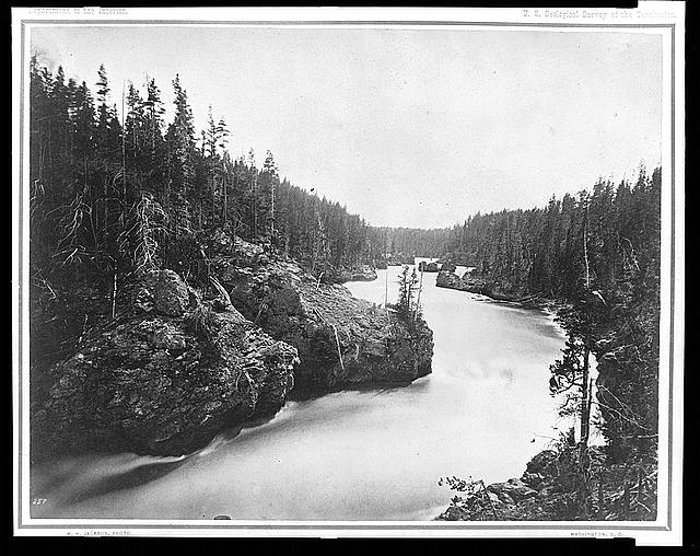 [Yellowstone River above the falls]