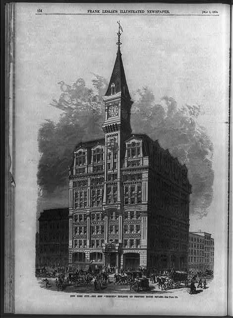 "New York City - the New ""Tribune"" Building on Printing House Square"