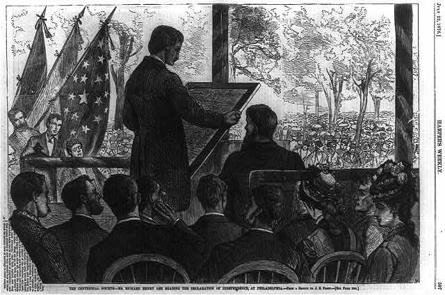 The Centennial Fourth - Mr. Richard Henry Lee Reading the Declaration of Independence, at Philadelphia