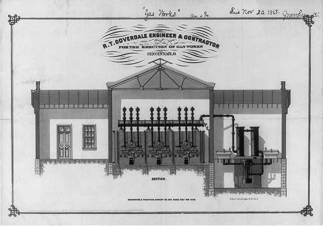 R.T. Coverdale engineer & contractor for the erection of gas works, Cincinnati, O.