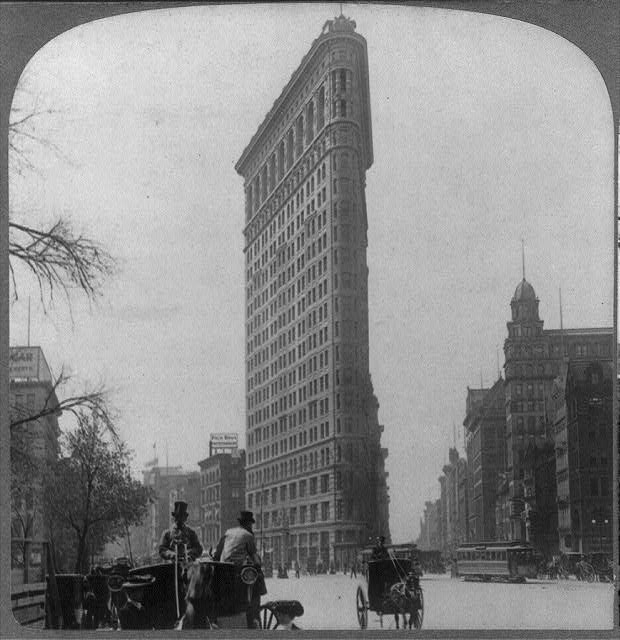 "The famous ""Flatiron"" Building - most remarkable commercial building in the world, N.Y.C."