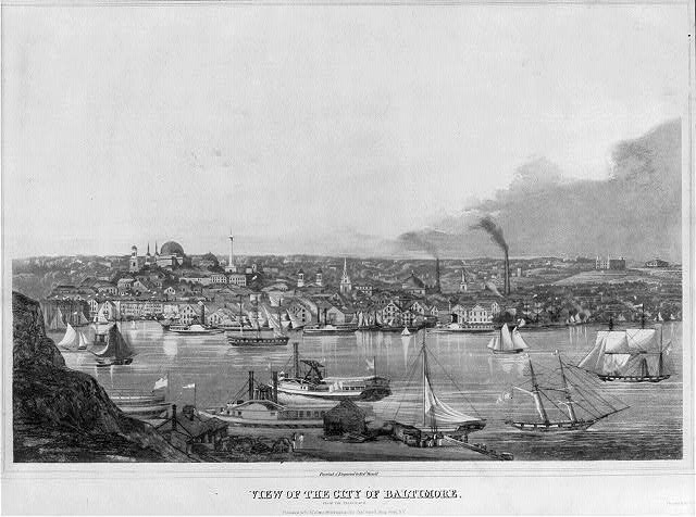View of the city of Baltimore. From the telegraph