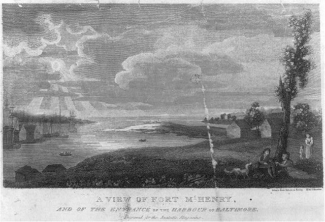 A view of Fort McHenry, and the entrance of the harbour of Baltimore
