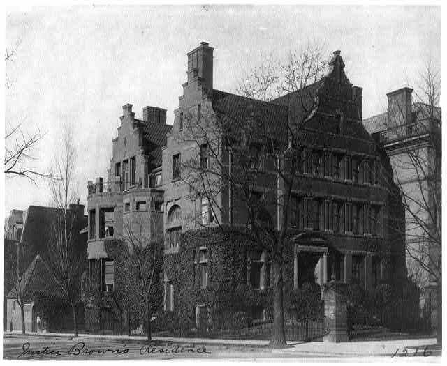 Justice Brown's residence,  Washington, D.C.