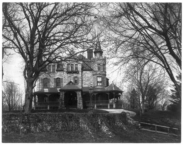 [Calumet, the home of Mrs. John A. Logan, between 13th and 14th and Clifton and Belmont Streets, near Barber Mansion, Belmont - originally Horatio Stone House]